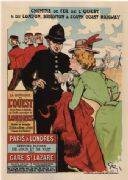 Vintage French poster - Chemins de Fer de l'Ouest (West Railways)